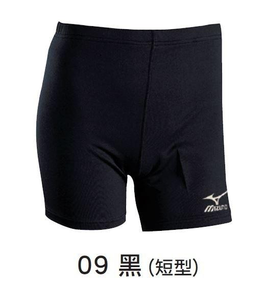 [陽光樂活] MIZUNO 美津濃 男 短緊身褲 短型 短束褲 吸汗速乾 活動自如- U2TB4G1109 黑