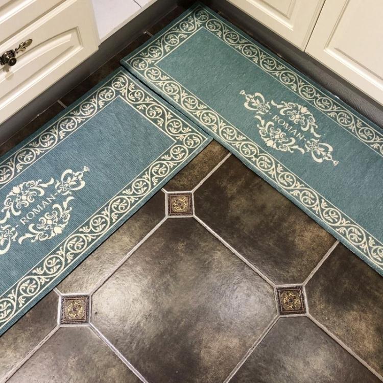 廚房地墊 簡歐廚房地墊防油長條腳墊防滑吸水門口門墊家用臥室床邊地毯 摩登生活