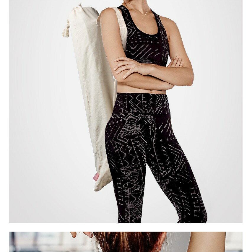 棉麻瑜伽墊袋子瑜珈墊套袋瑜伽墊套子瑜伽墊收納袋瑜伽包 js7890 3
