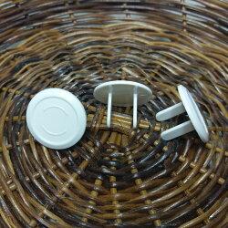 圓形電源插座保護蓋 / 2腳 防觸電 安全插座插頭插孔 電源保護蓋 嬰兒 寶寶 幼兒 居家安全 防護用品