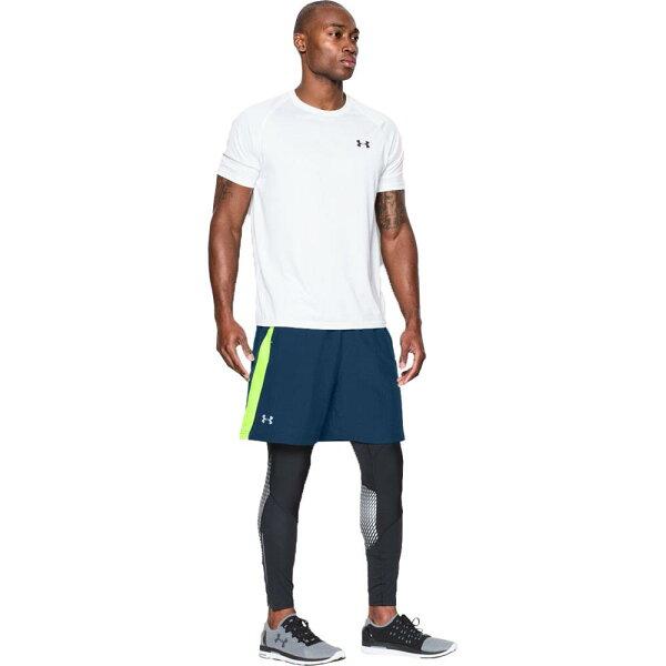 《UA出清6折》Shoestw【1265720-997】UNDERARMOURUA服飾7吋短褲運動褲訓練褲藍螢光綠男生