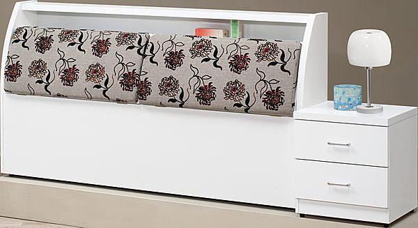 ~石川家居~EF~65~8 玫瑰白色5尺布面床頭箱 ^(不含床底及 品^) 大需 車趟
