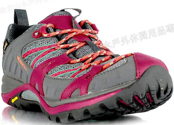 零碼特價Merrell登山鞋健行鞋防水透氣SirenSportGore-tex女款ML32840灰桃紅