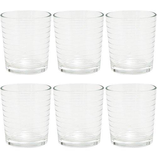 《EXCELSA》Parigi圈紋玻璃杯6入(260ml)