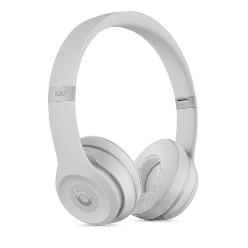 Beats by Dr. Dre Solo3 Wireless On-Ear Headphones Matte Silver - Stereo - Wired/Wireless - Bluetooth - Over-the-head - Binaural - Circumaural 0