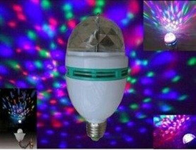 【小工人】E27頭 足3w 雷射激光 自動旋轉 七彩LED夜光燈 是舞台燈 也是絢麗七彩燈