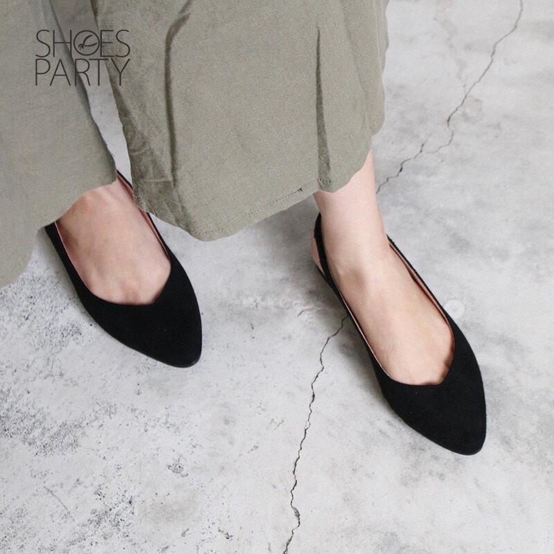 【P2-18328F】春天少女心,優雅尖頭平底鞋_Shoes Party 5