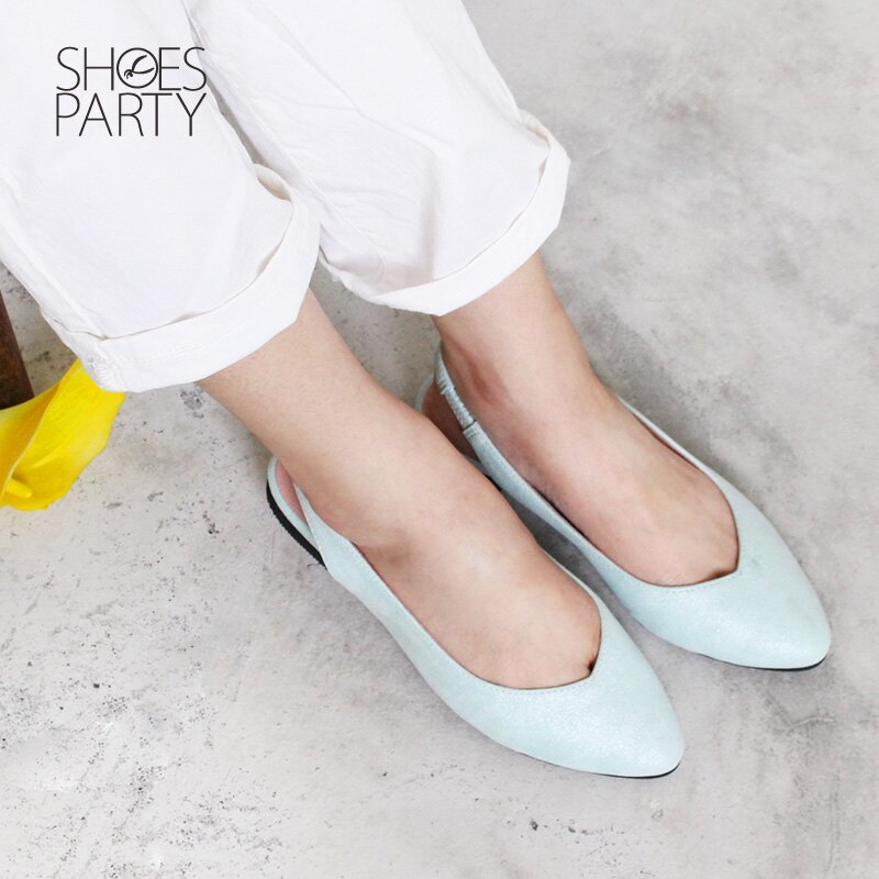 【P2-18328F】春天少女心,優雅尖頭平底鞋_Shoes Party 2