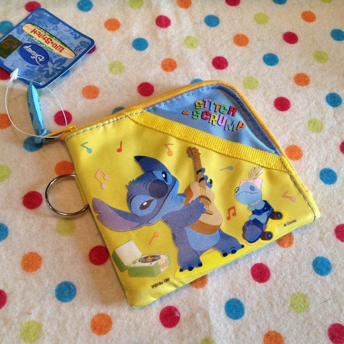 =優生活=台灣迪士尼授權星際寶貝 史迪奇方形零錢包 皮包 錢包 鑰匙包