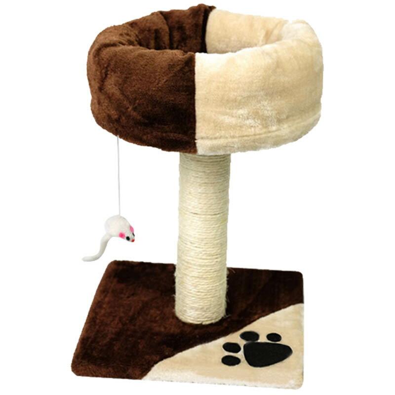 雙色幸福貓窩 貓跳台 貓爬架 貓玩具 貓抓老鼠 寵物睡窩 寵物用品 貓窩 貓床 貓抓板 劍麻 貓磨爪 1