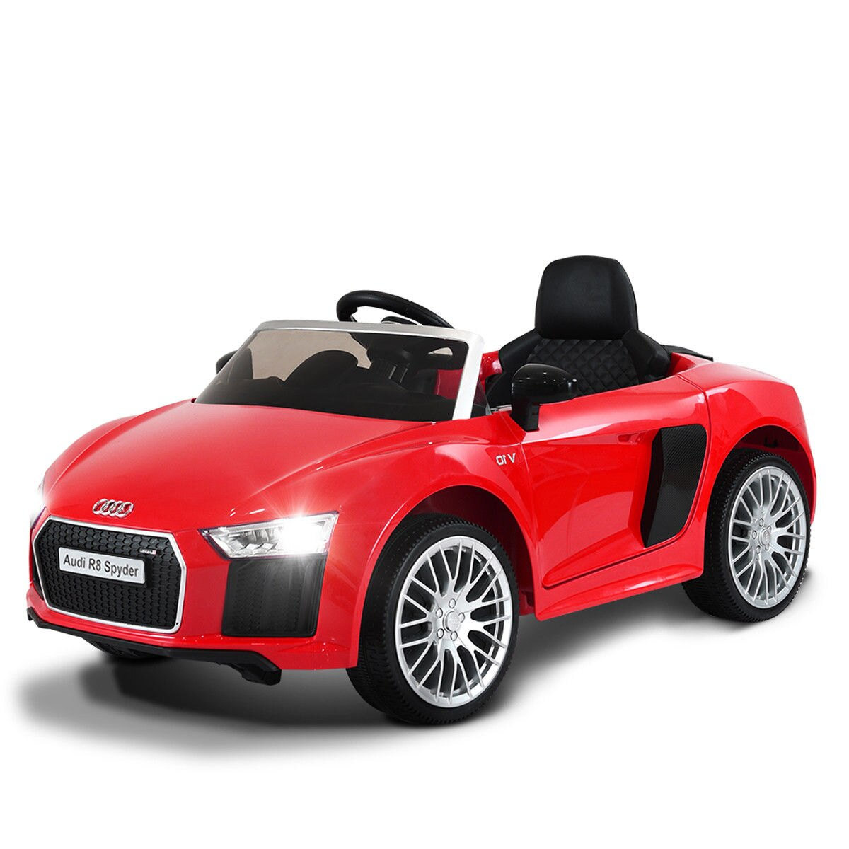 69a5a49b7e7fa Costway 12V Audi R8 Spyder Licensed Electric Kids Ride On Car R C  Suspension MP3