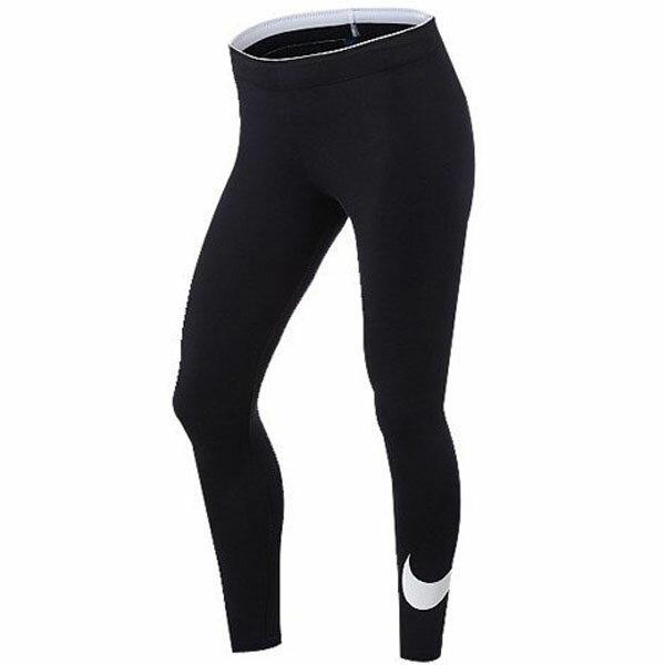 NikeCLUBLEGGING-LOGO女裝長褲緊身內搭九分黑【運動世界】815998-010