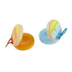 德國 Hape 愛傑卡 音樂響板(隨機出貨,不挑色)【紫貝殼】