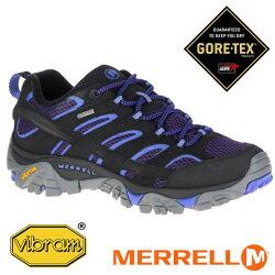 【Merrell 美國】MOAB 2 GORE-TEX 戶外多功能鞋 防水健行鞋 女款 深藍/藍 /ML12134