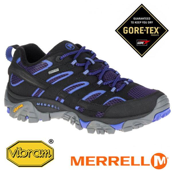 【Merrell美國】MOAB2GORE-TEX戶外多功能鞋防水健行鞋女款深藍藍ML12134