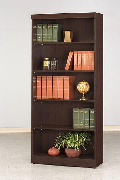 【尚品家具】CF-600 胡桃 2.7 尺 開放 書櫃