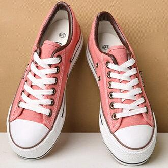 帆布鞋 休閒鞋-時尚韓風青年厚底低筒平底女鞋子6色72ac35【獨家進口】【米蘭精品】