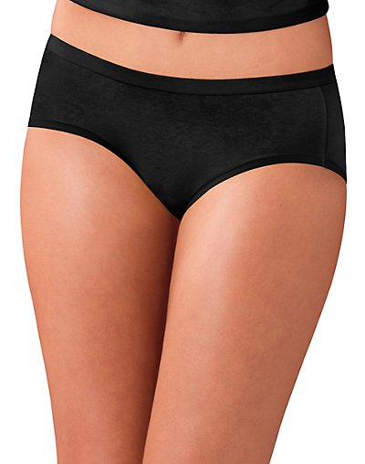 5b885caa0f65 Hanes Women's Cotton Stretch Hipster Panties with ComfortSoft Waistband 3- Pack 0