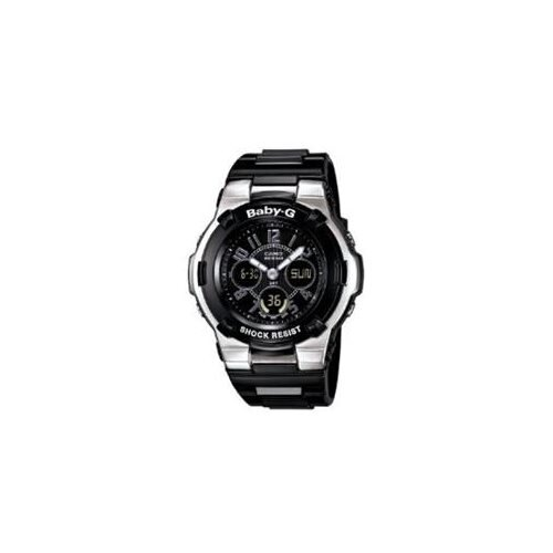 Casio Women's BGA110-1B2 Baby-G Shock Resistant Black Multi-Function Sport Watch 0