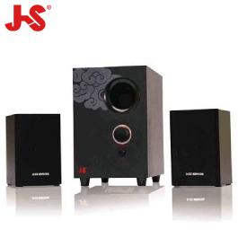 淇譽JS JY-3023 2.1聲道 三件式喇叭 /2500W全木質音箱/4吋重低音喇叭/中國風系列