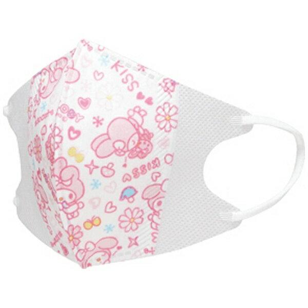 X射線【C386329】美樂蒂Melody 1-3歲嬰兒用立體口罩,機車用口罩/衛生口罩/防塵口罩/拋棄式口罩/三層防塵口罩