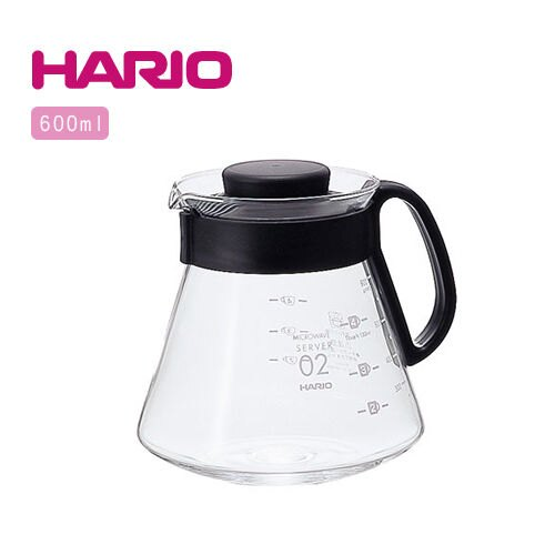 【威豆精品咖啡】HARIO V60耐熱玻璃咖啡專用壺 2~5杯用 600ml XVD-60B