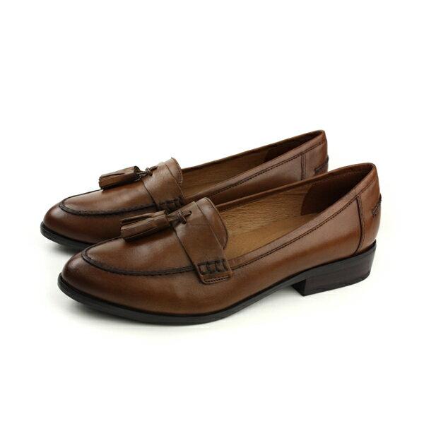 HUMAN PEACE:HUMANPEACE休閒鞋皮鞋牛皮咖啡色女鞋7529-03no052