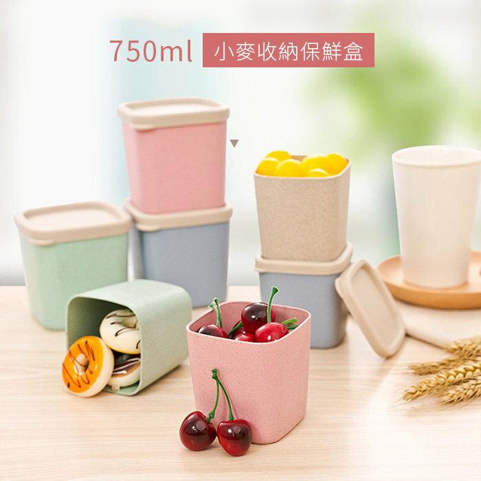 保鮮盒 密封罐 750ML 野餐 便當盒 北歐小麥稈【SV8121】快樂生活網