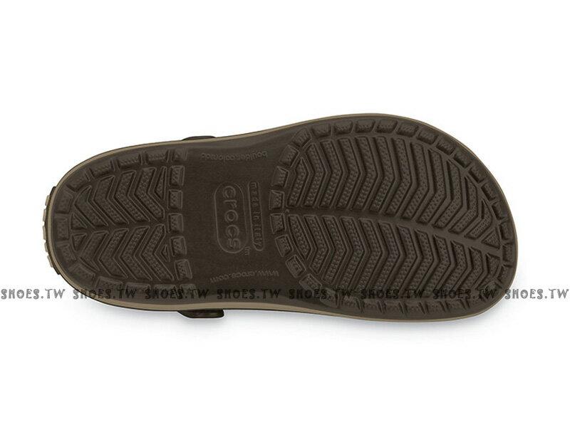 Shoestw【11016-22Y】CROCS 卡駱馳 鱷魚 輕便鞋 拖鞋 涼鞋 咖啡色 中性款 1