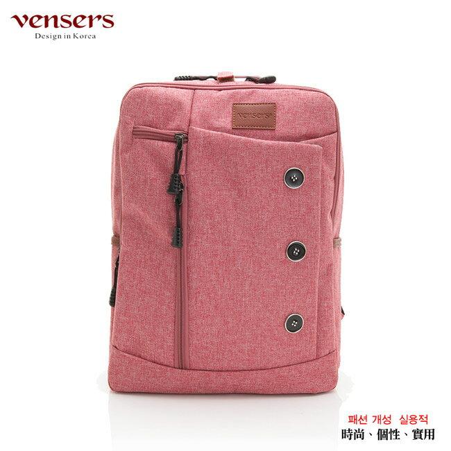 【vensers】簡約丹寧牛仔後背包(R00061605粉色) 0