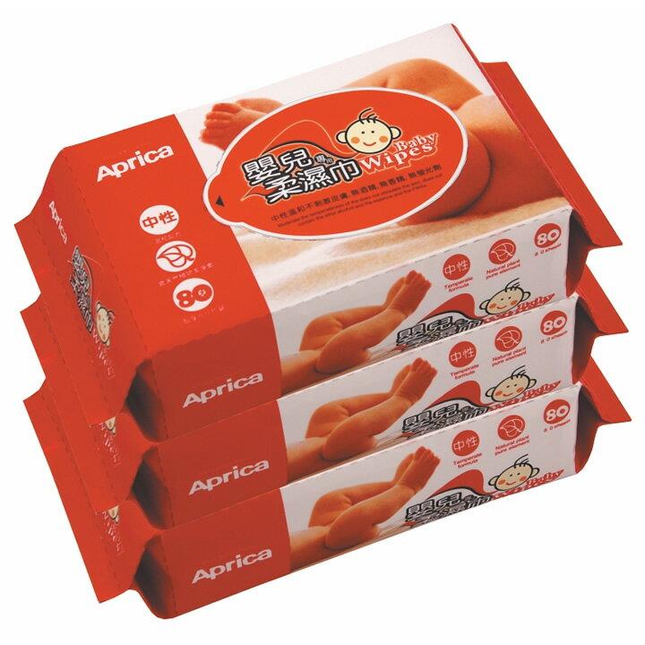 Aprica愛普力卡 - 嬰兒專用超柔濕巾居家包80抽 3包/串