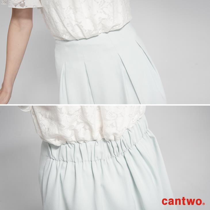 cantwo蕾絲雙層荷葉袖洋裝(共二色) 5