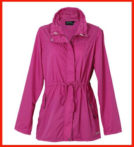 女抗UV單層風衣 - 莓紫紅 3211 - 限時優惠好康折扣