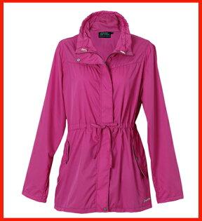 女抗UV單層風衣-莓紫紅3211