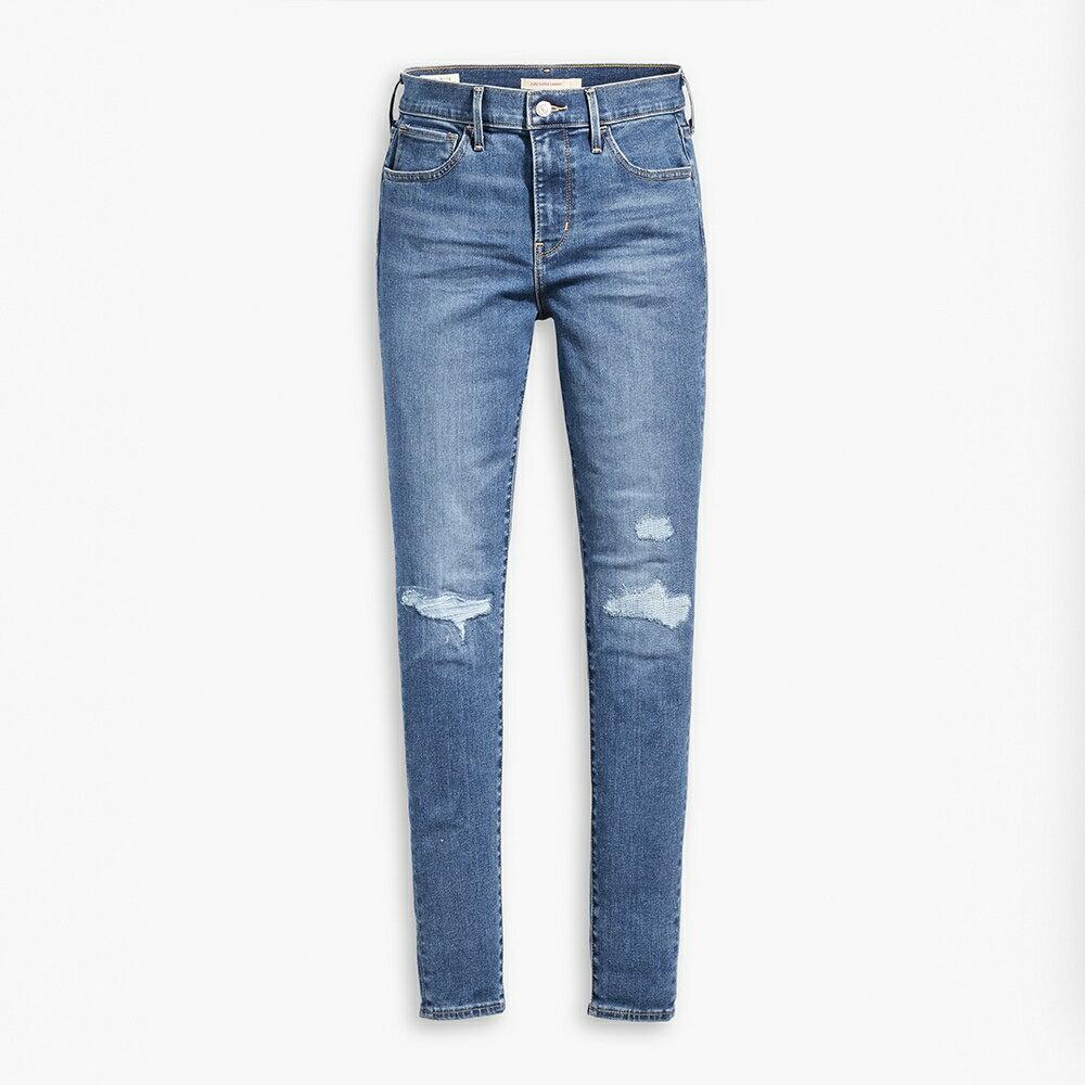 Levis 女款 720 高腰超緊身窄管 超彈力牛仔褲  /  Sorbtek保暖纖維  /  Warm Jeans內刷毛  /  破壞縫補  /  彈性布料 W 1