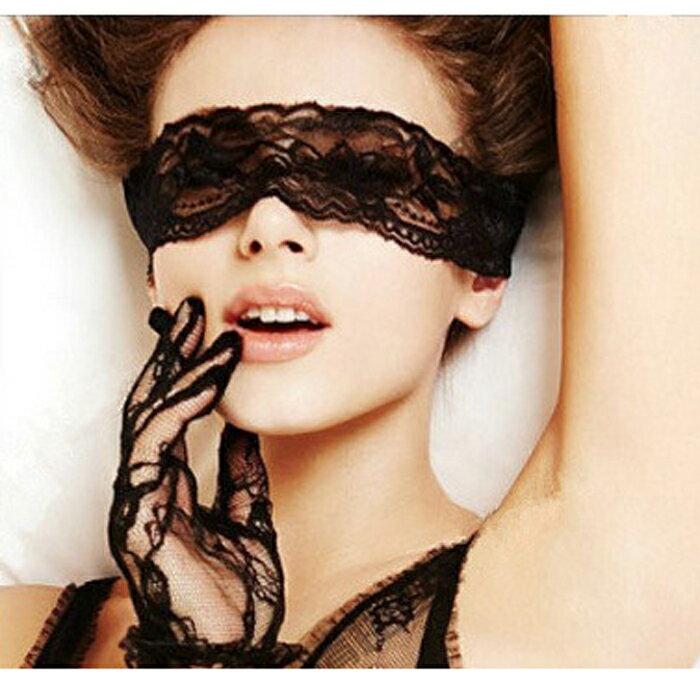 糖衣子輕鬆購【DZ0063】情趣性感誘惑眼罩夜店制服角色扮演蕾絲眼罩