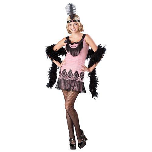 Flirty Flapper Costume Dress Teen Large 9-11 0
