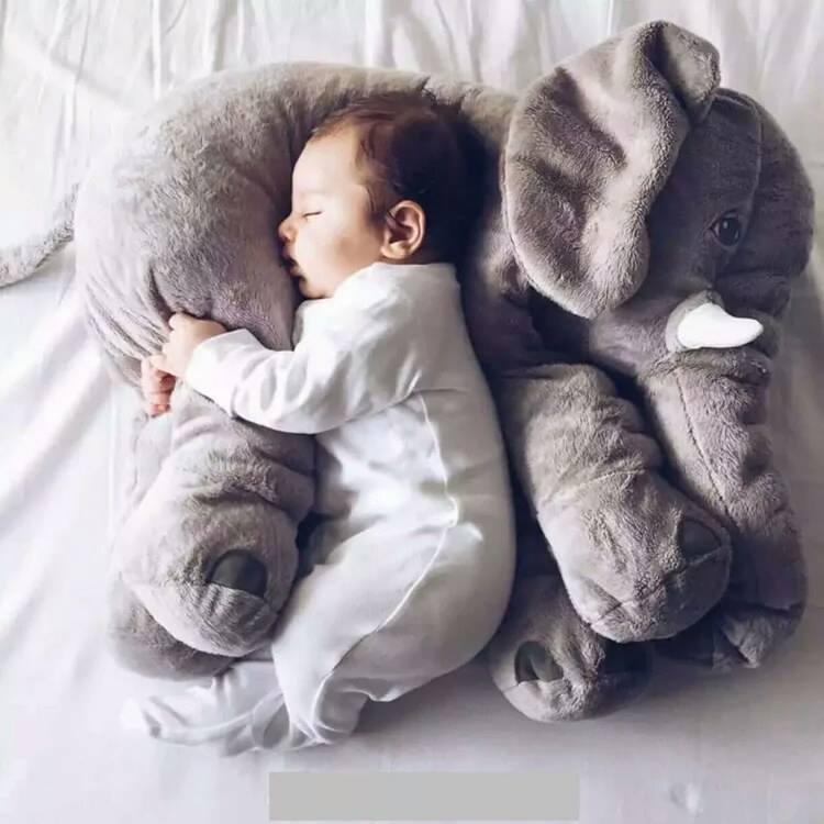 小熊日系*絨毛大象安撫寶寶睡覺抱枕 嬰兒枕頭 安撫療癒系 兒童抱枕 超療癒