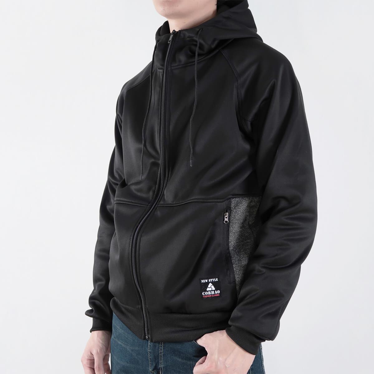 內刷毛連帽保暖外套 夾克外套 運動外套 休閒連帽外套 刷毛外套 黑色外套 時尚穿搭 WARM FLEECE LINED JACKETS (321-8916-01)淺灰色、(321-8916-02)深灰色、(321-8916-03)黑色 L XL 2L(胸圍46~50英吋) [實體店面保障] sun-e 8