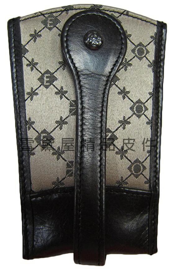 ~雪黛屋~ZODENCE 鑰匙包進口專櫃單支鑰匙包100%進口牛皮革+防水緹花布材質可固定於腰帶上Z4S1242