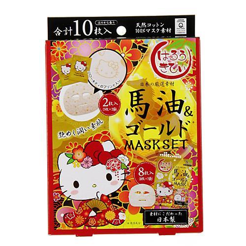 【百倉日本舖】日本製/超熱銷/全新加單/超滋潤 Hello Kitty 馬油黃金面膜10入