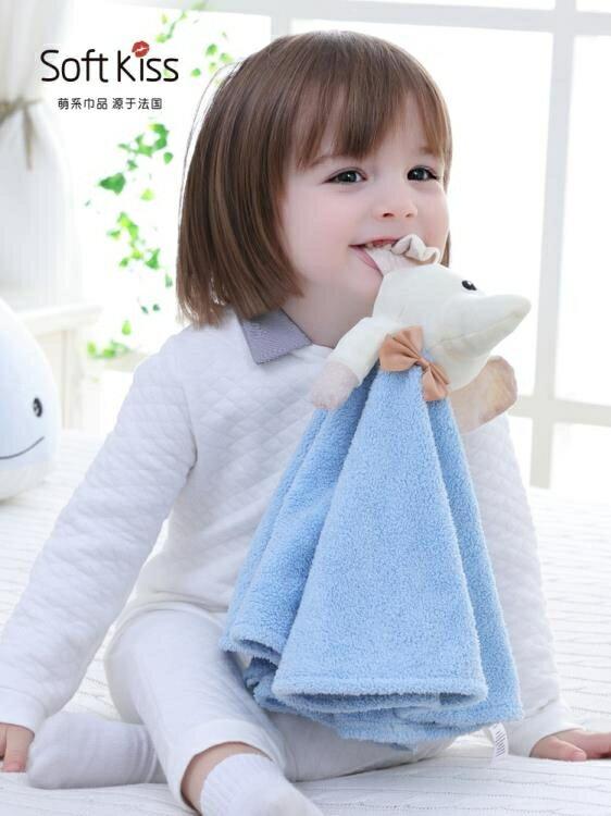 兒童毛巾擦手巾掛式可愛韓國創意卡通吸水家用寶寶安撫巾廚