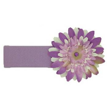 【hella 媽咪寶貝】美國Jamie Rae 100%純棉髮帶 薰衣草寬髮帶+薰衣草紫白雛菊 (JRHBD09)