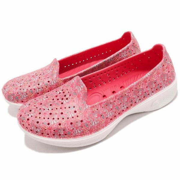 【SKECHERS】 H2 GO 水鞋 休閒鞋 碎花 女鞋 粉色-14692PNK