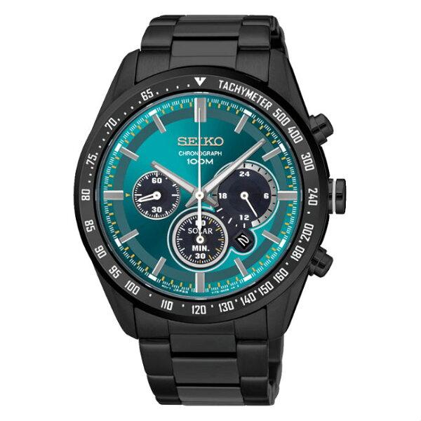 SeikocriteriaV175-0DK0L(SSC475P1)極致競速太陽能計時腕錶綠面42mm