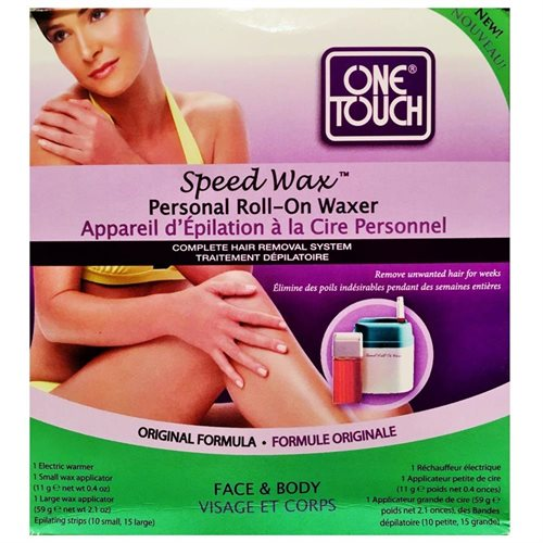 One Touch Speed Wax Personal Roll-On Waxer Complete Hair Removal System 84f29aa4fbef0fe3b12d6a0ad7e0a94d