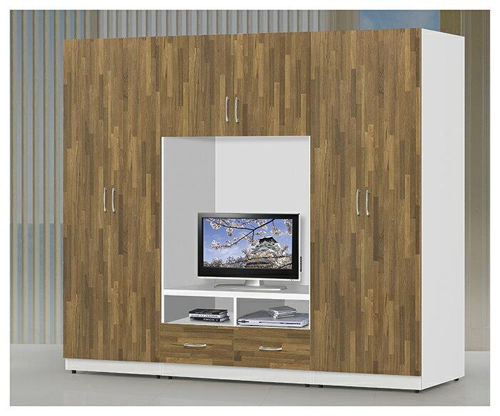 【尚品傢俱】JF-114-1 施華洛2.3尺白色桶身柚木門片兩用衣櫃