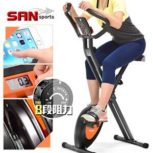 【SAN SPORTS 山司伯特】全新一代磁控健身車(超大座椅)室內折疊腳踏車自行車.飛輪式摺疊美腿機.運動健身器材.推薦哪裡買專賣店ptt C149-040