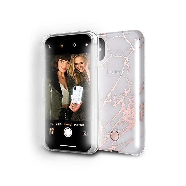 LUMEE Duo 雙面 LED 補光手機殼 iPhone X 金屬大理石 (最新款式) 0