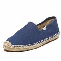 【Soludos】美國經典草編鞋-基本款草編鞋-深藍